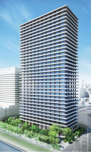 地上31階建・高さ148mの新ダイビル外観