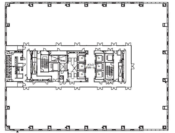 オフィス平面図(低層階)