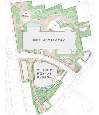 新宿イーストサイド全体計画図