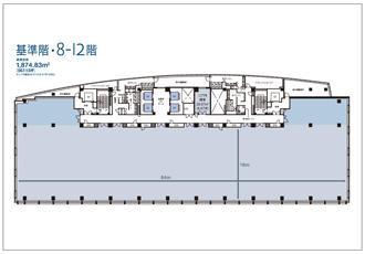 基準階平面図(8~12階)