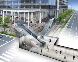 「豊洲」駅と直結する連絡通路